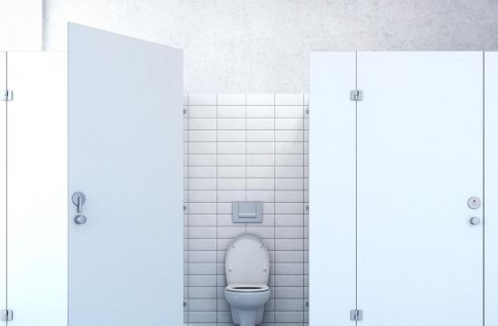Skolekaos: Elev limet fast til wc